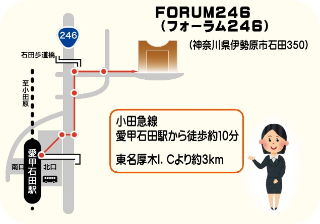 FORUM246 小田急線愛甲石田駅から徒歩10分 東名厚木ICより約3km